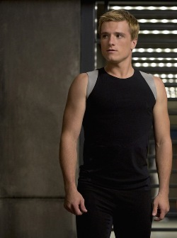 "Josh Hutcherson as Peeta Mellark in ""The Hunger Games: Catching Fire"""